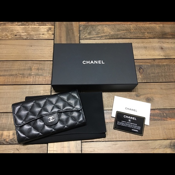 ecb536117ff3 CHANEL Handbags - CHANEL black caviar continental wallet